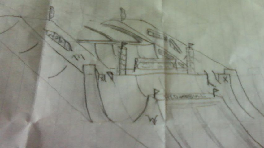 Hand drawn feature sketch