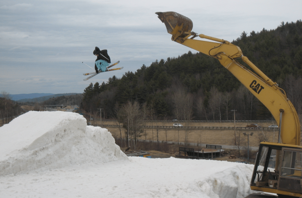 Excavator jump