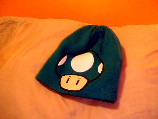 Mario 1 up hat 1st side