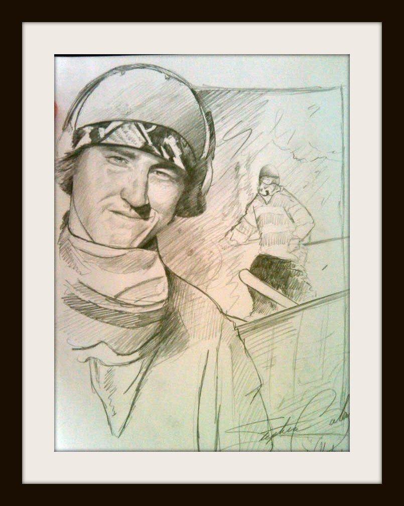 Tom Wallisch, very very quick sketch