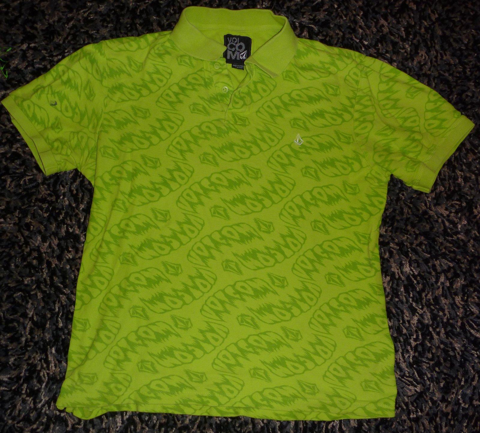 Green volcom polo
