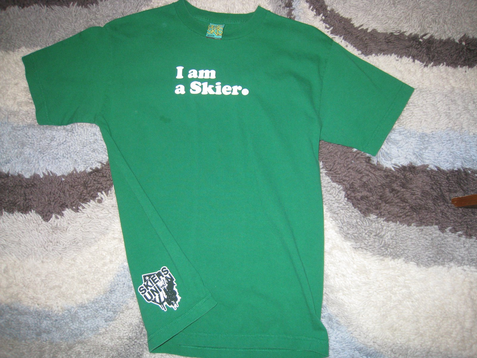 Line I am a Skier t-shirt for sale