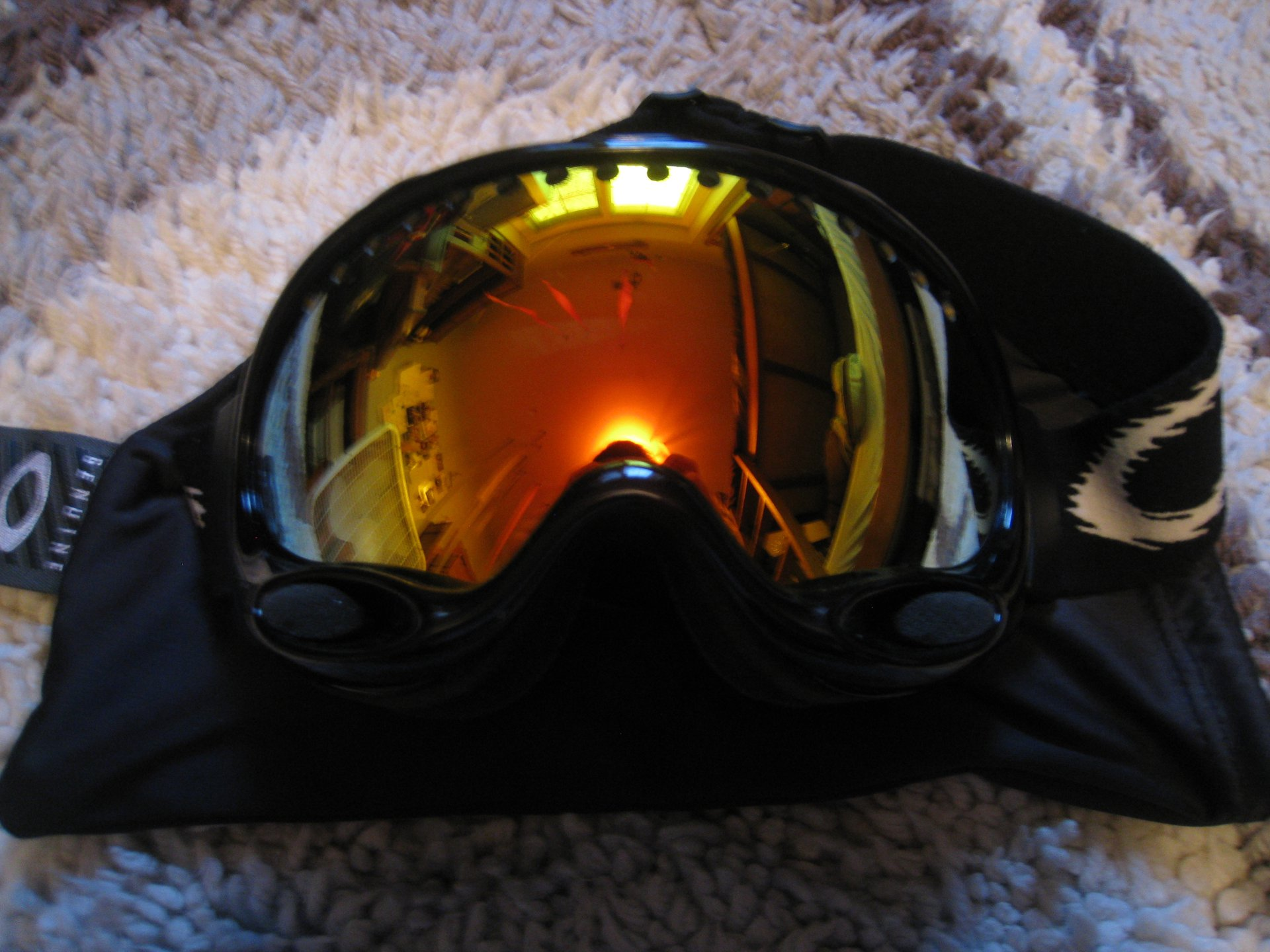 Black Oakley A-Frame w/ Fire Iridium for sale