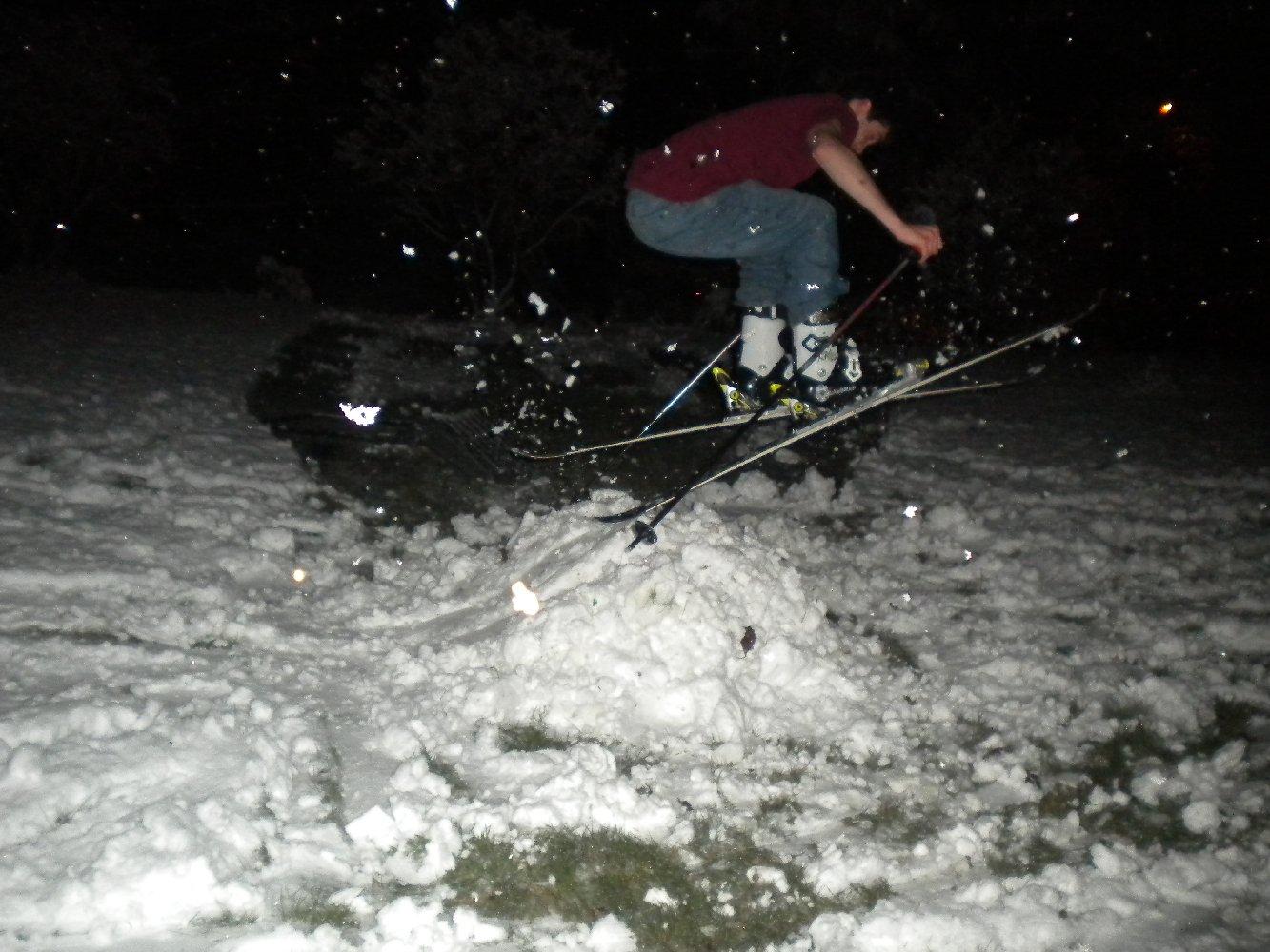 Backyard Skiing on April 18th - 21 of 27
