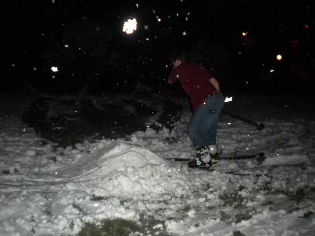 Backyard Skiing on April 18th - 24 of 27