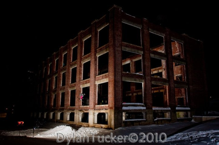 Old gutted out building