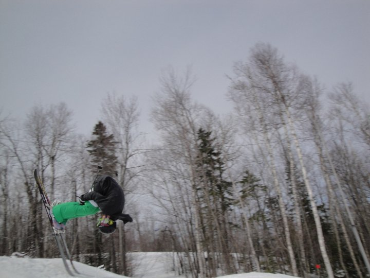 Frontflip on a realy small jump.