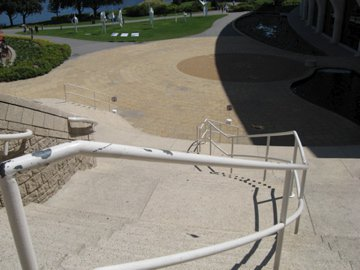 Different angle of handrail
