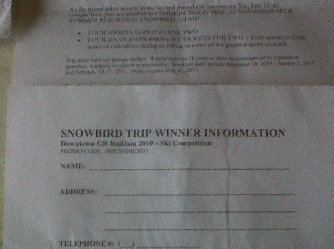 Snowbird trip for salem check thread