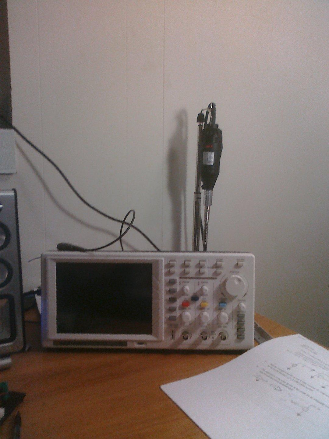 Oscilloscope and Dremmel