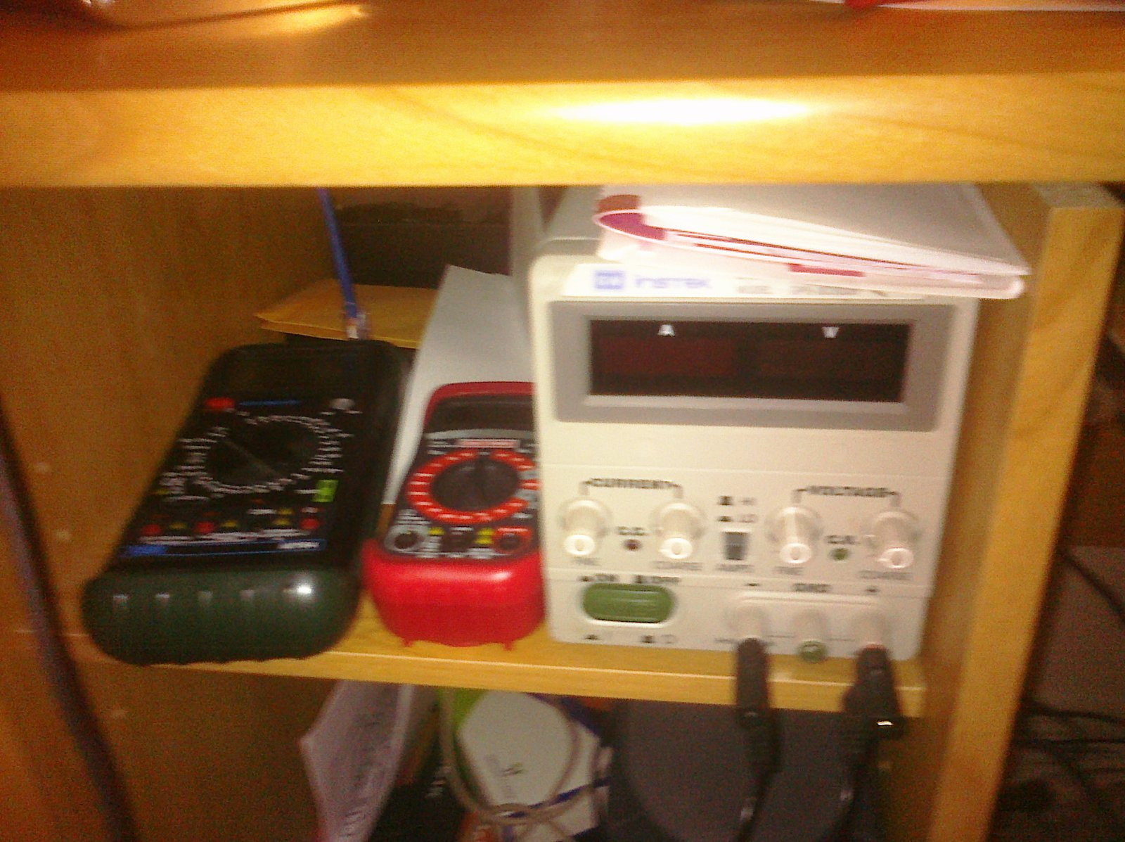DC power supply and a few multimeters