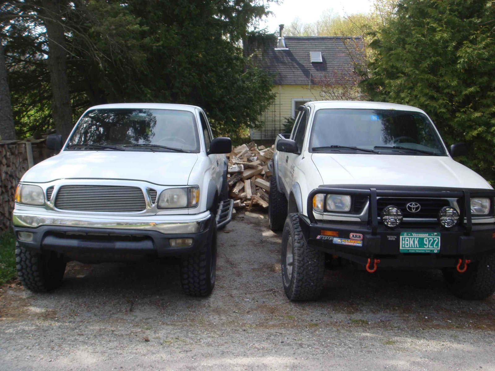 New and Old Tacomas