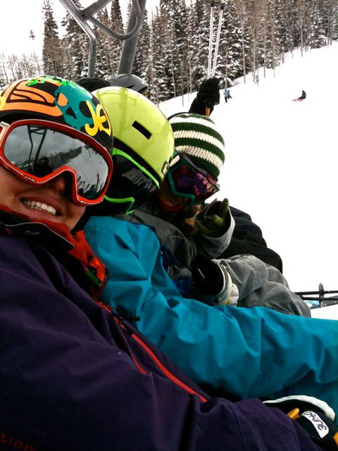 Powder day with the girls!