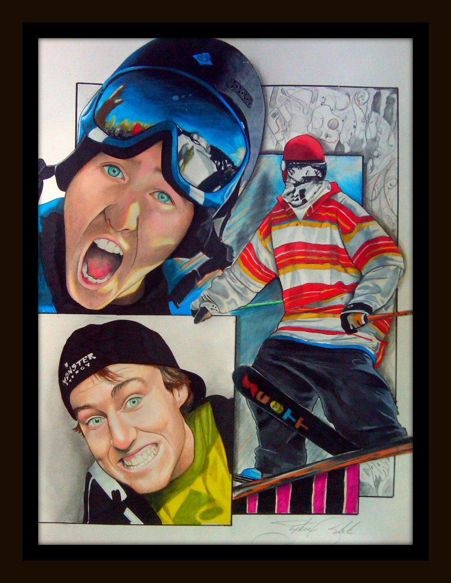 Tom Wallisch full drawing