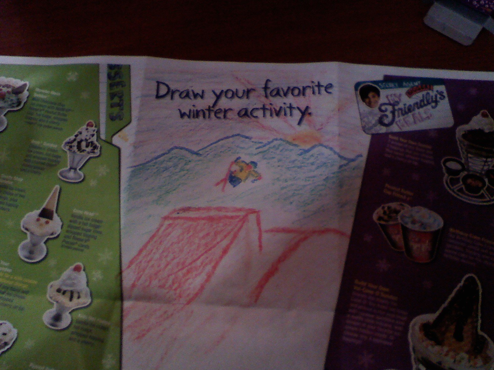 Friendly's drawing with crayon!
