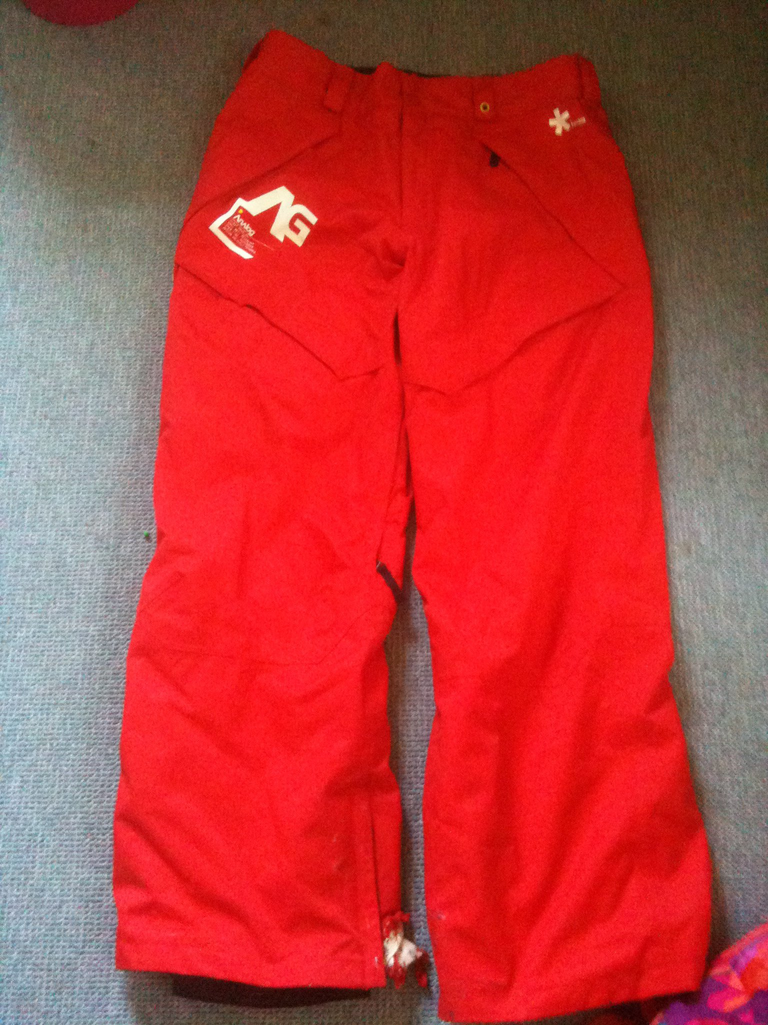 Red analog Pants L for sale