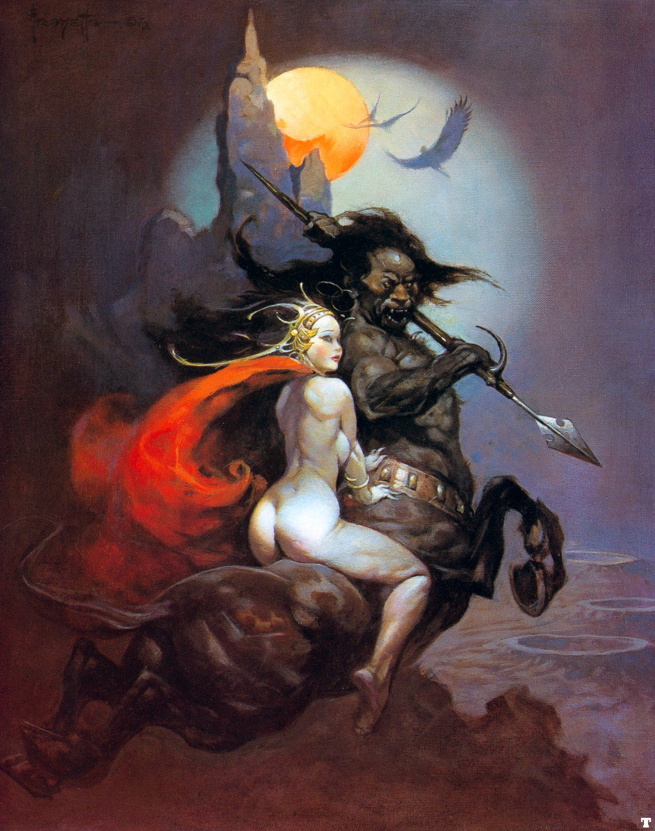 "Frank Frazetta (1928-2010) ""The Moon Maid"""