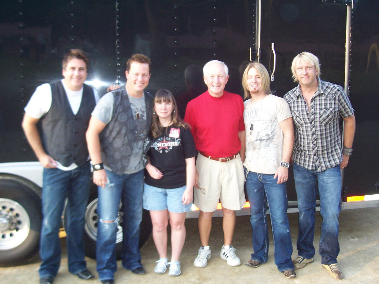 Me with dean sams from lonestar! : )