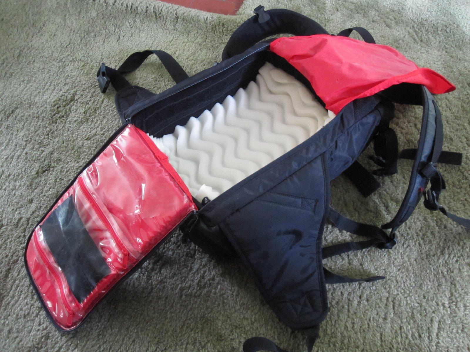 #13 camera backpack inside