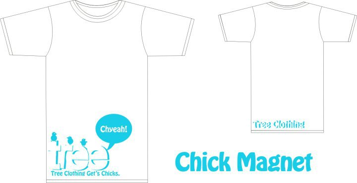 Tree chick magnet tee