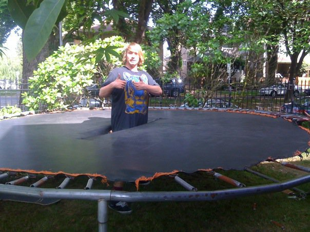 Broken trampoline
