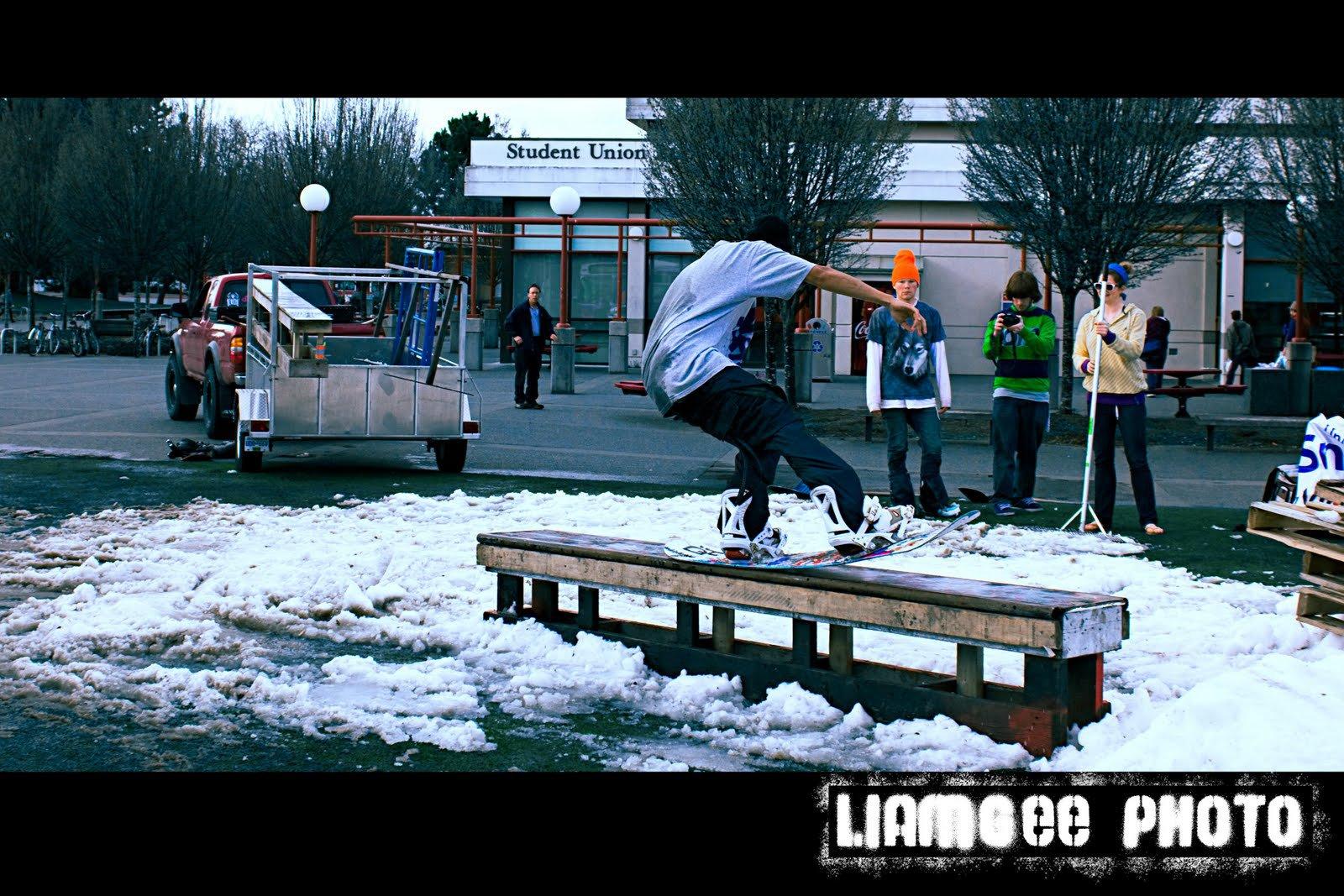 UVic snow railjam 4