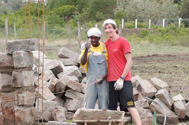 Laying down the bricks Evolve chile Kenya