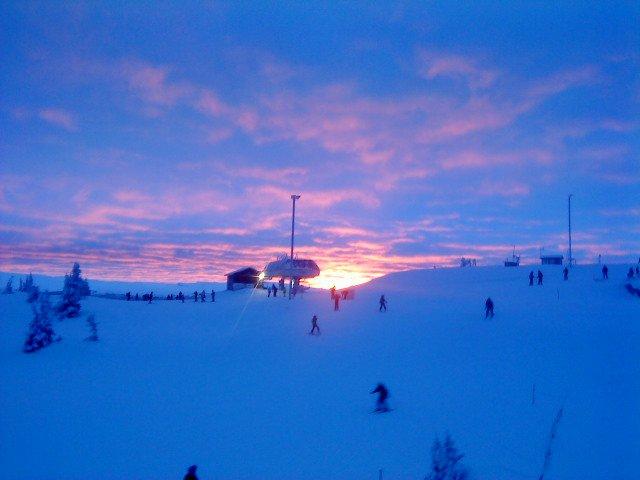Skiing in kvitfjell norway
