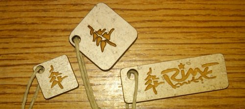 Wood engraved keychains