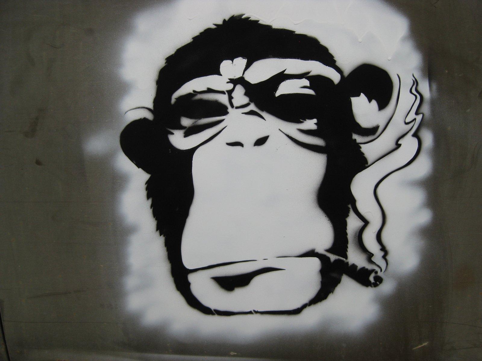 Papa chimp stencil