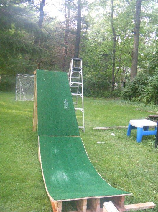 Summer turf ramp
