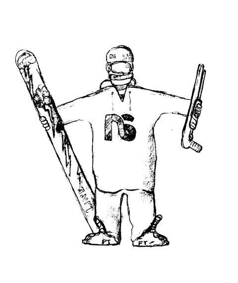 B&W Sick Skier