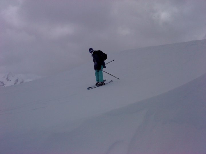 Spring time skiing