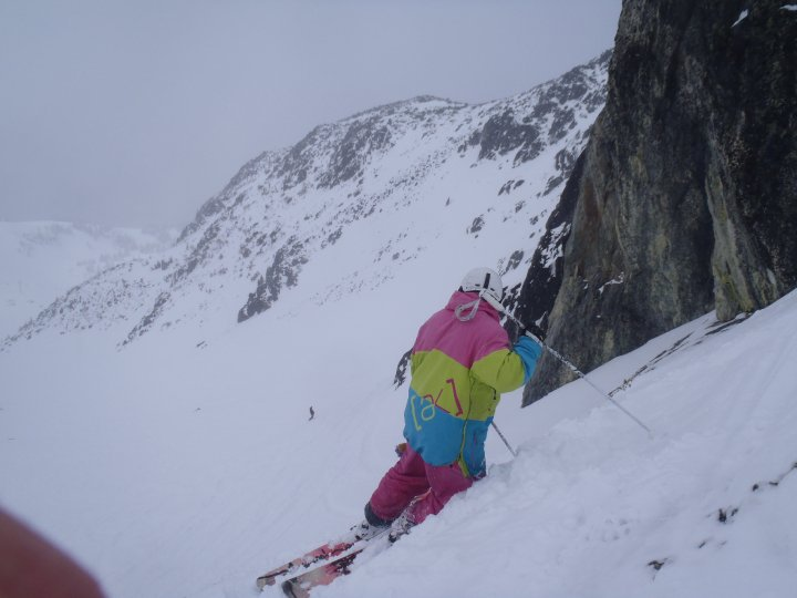 On thin snow