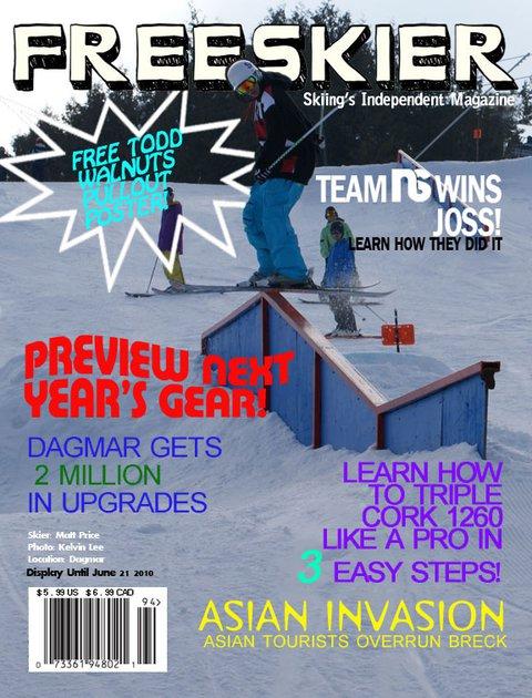Magazine cover for school