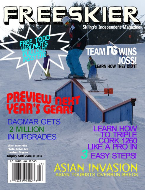 Magazine cover for school