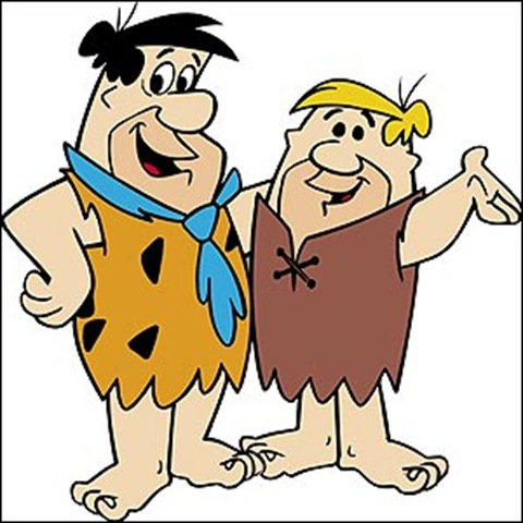Flintstones are ole school skiers