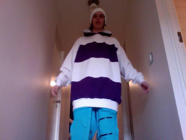 Purple - White Hoodie