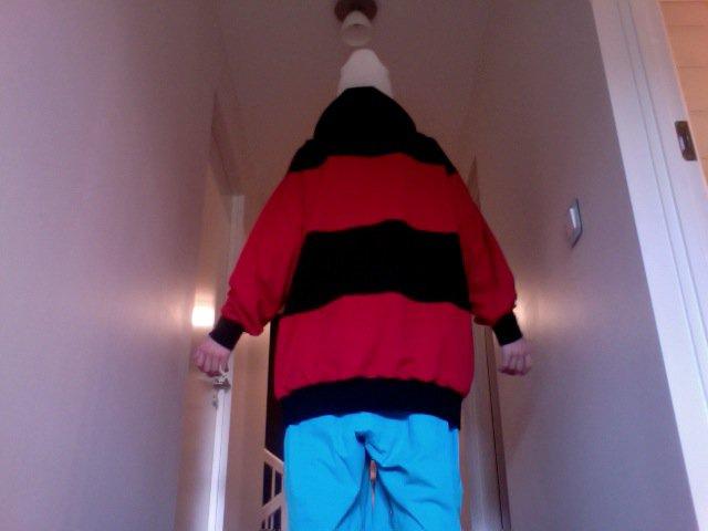 Black - Red Hoodie - back