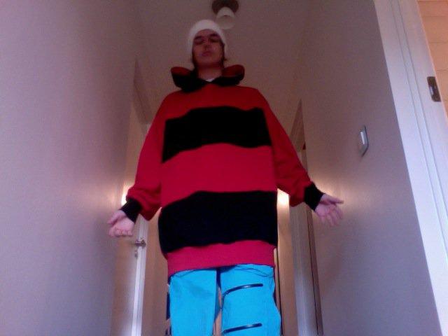 Black - Red hoodie