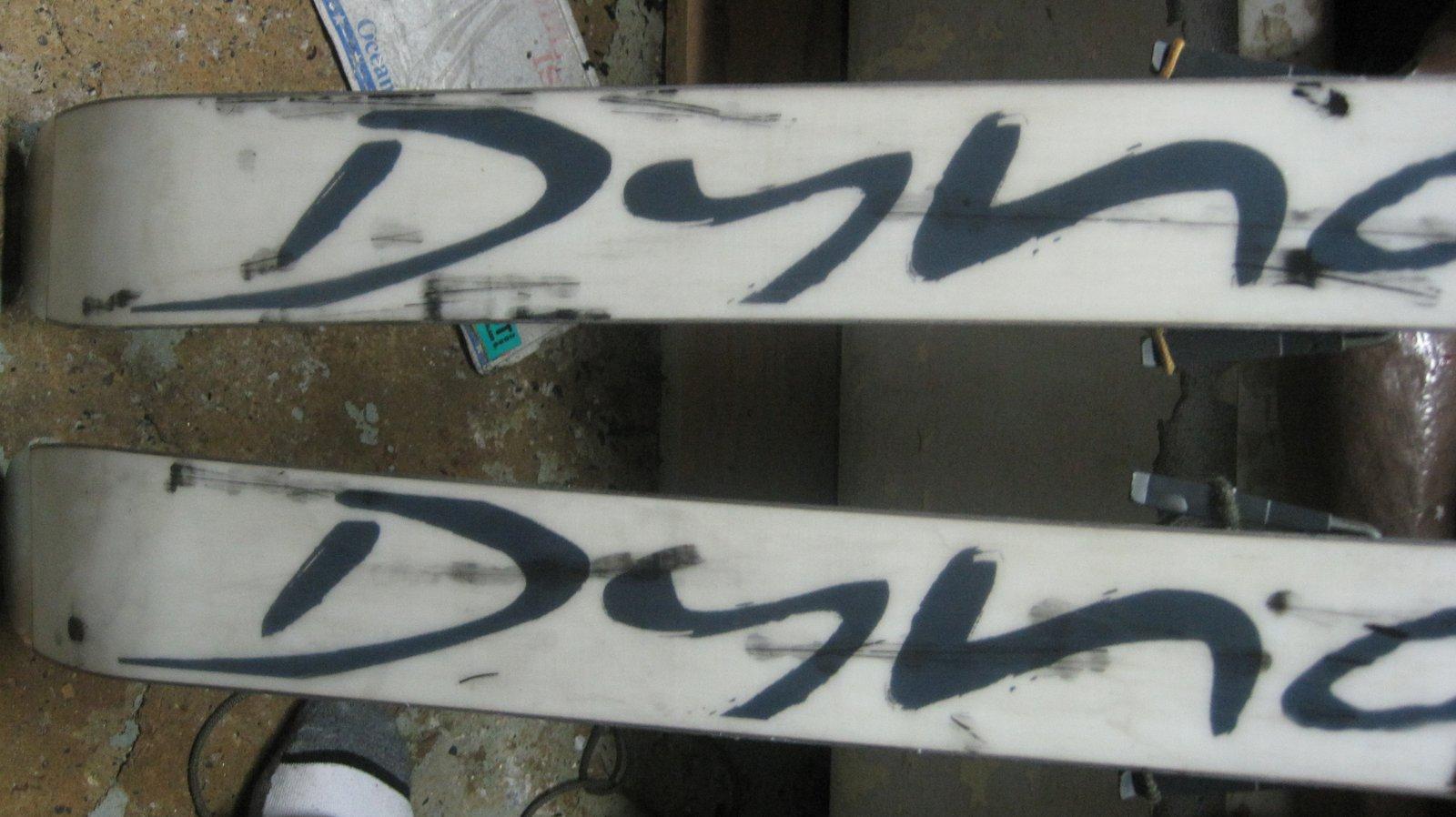 Thrashed skis 1