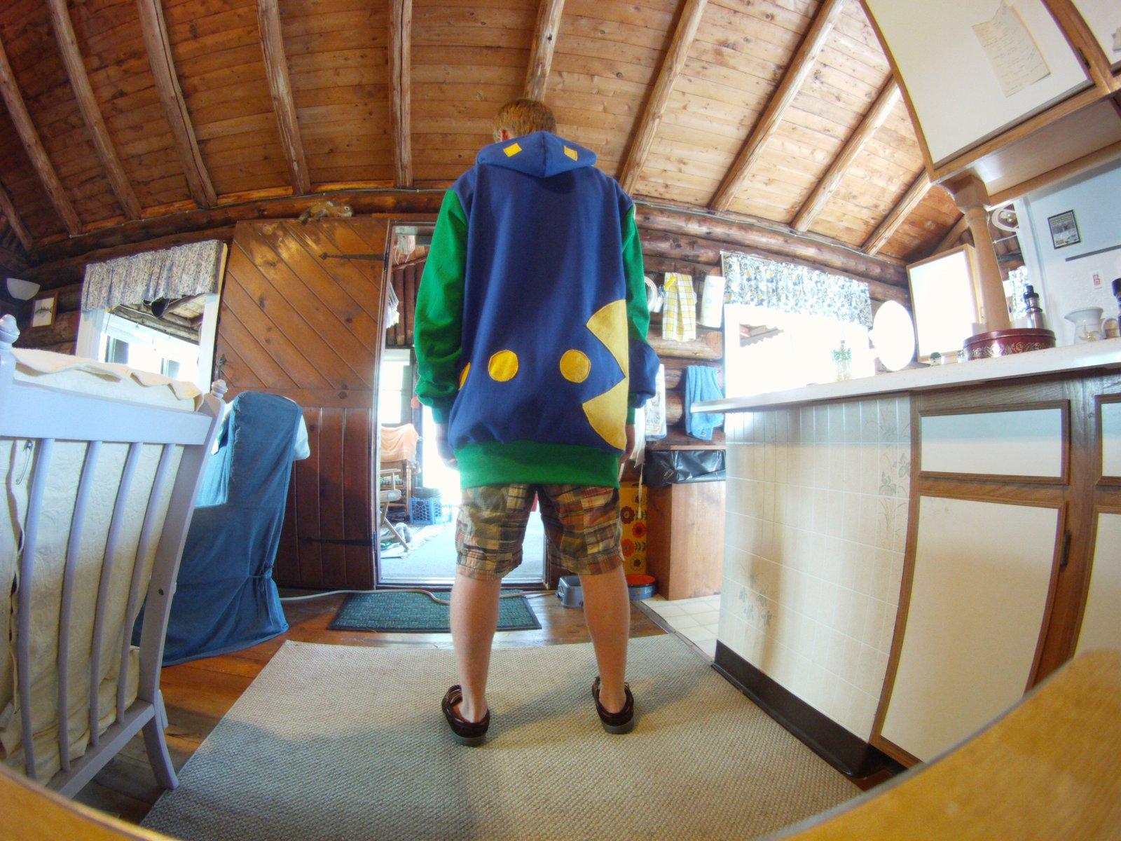 Back of Pacman hoodie
