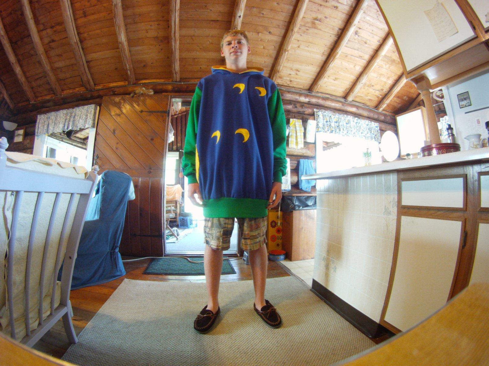 Homemade Pacman hoodie