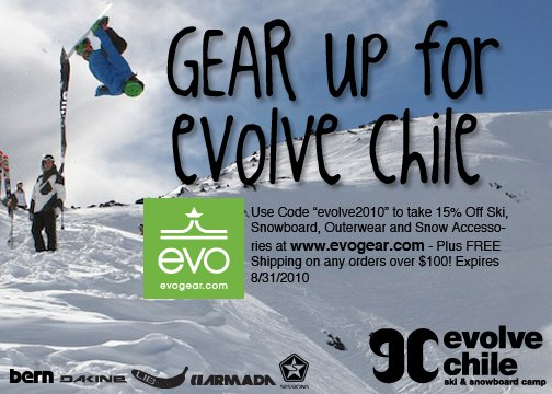 Evogear.com and Evolve Chile save 15%