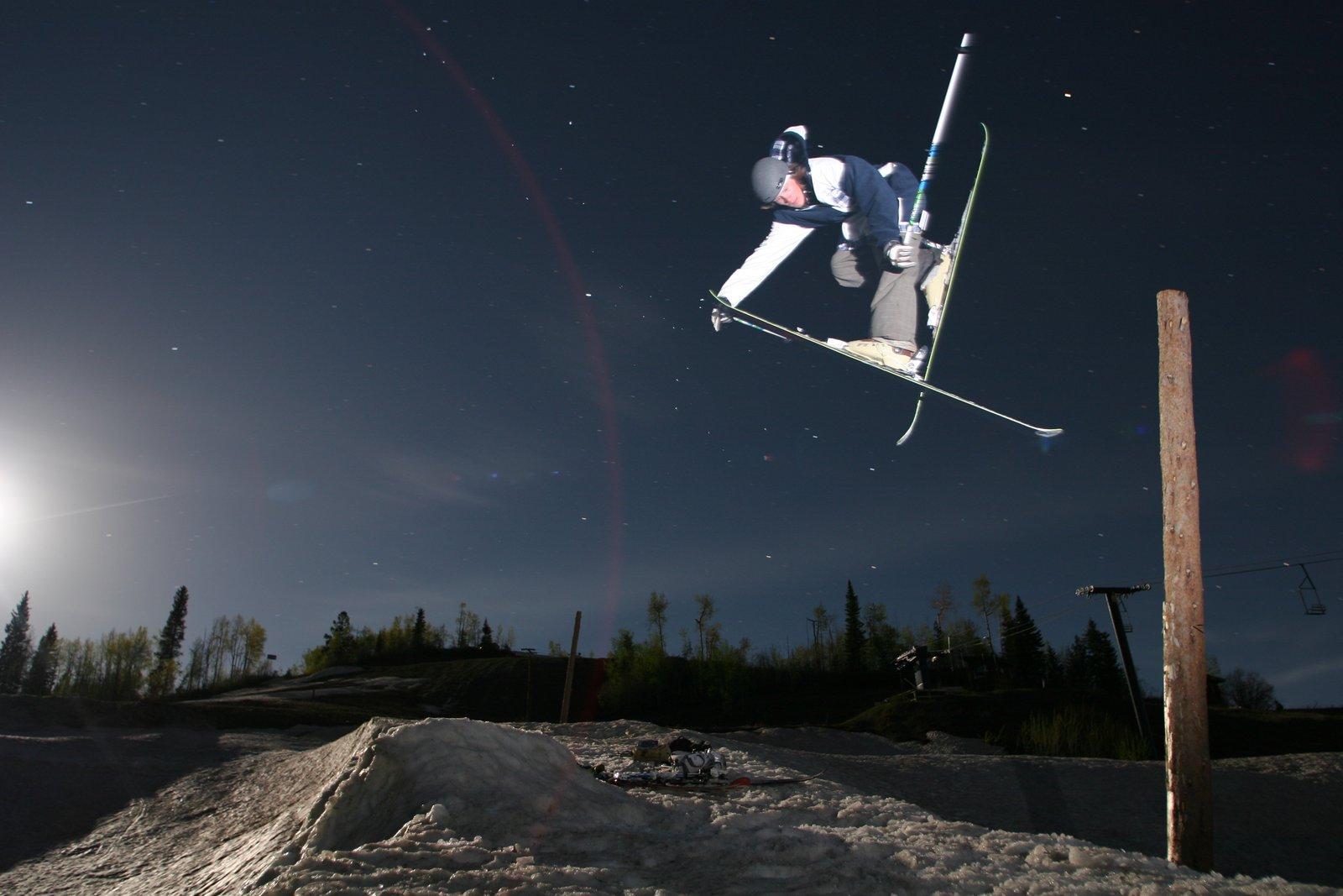 Lightpole Moonlight Skiing