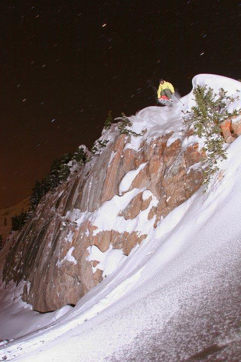 Rocky Point Night Cliff