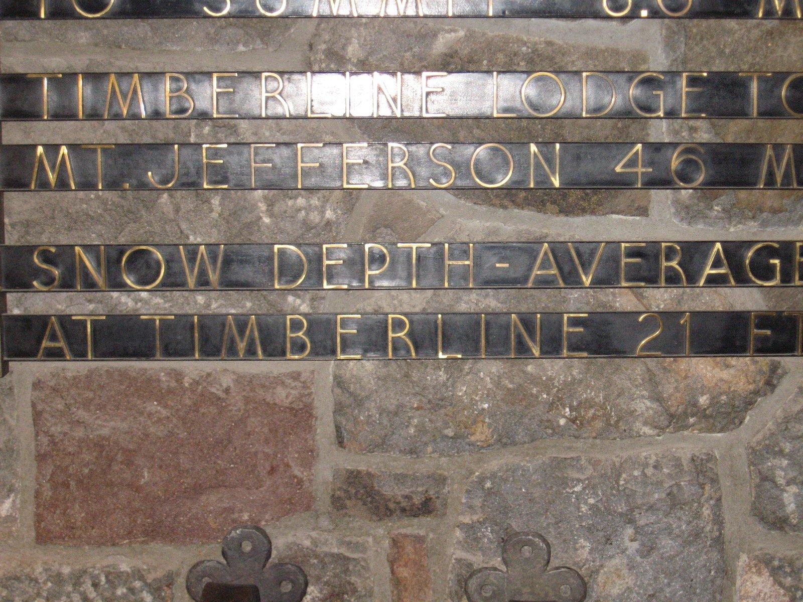 Timberline Plaque