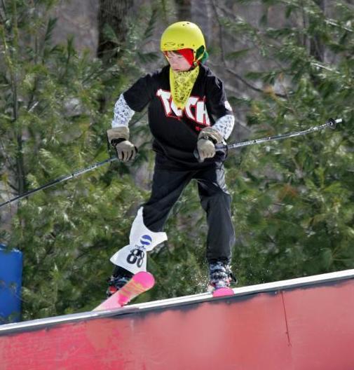 Tele park skier