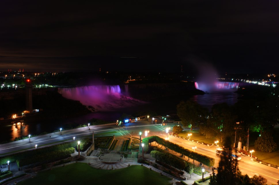 Niagara falls from hotel view