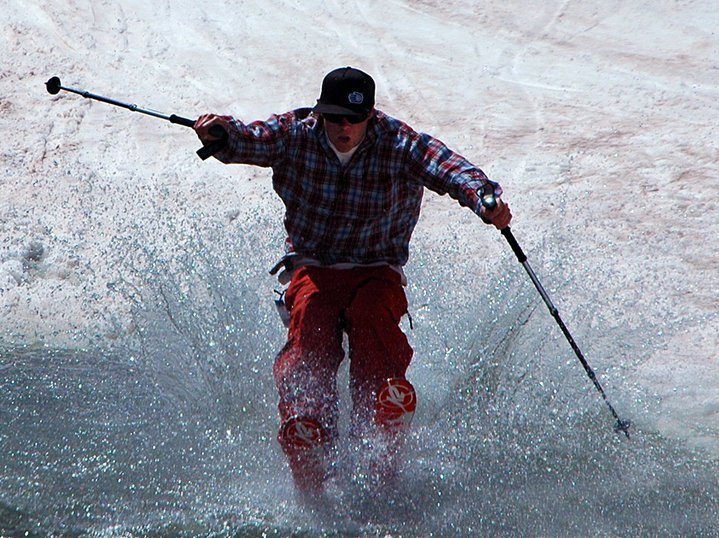 A basin pond skim